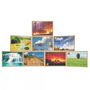 Quebra-Cabeça Elementos da Natureza - Kit com  8 jogos
