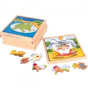 Quebra-Cabeça Evolutivo - Kit com 6 jogos - Caixa Papel