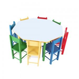 Mesa Oitavada Com 8 Cadeiras