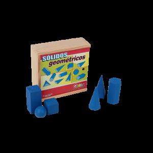 Sólidos Geométricos Caixa de Madeira 11 Peças