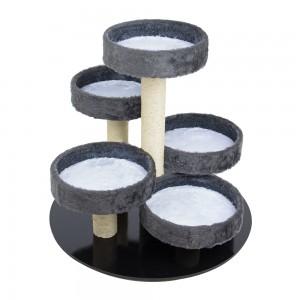 Arranhador Round Cinza/Branco