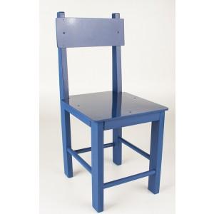 Cadeira avulsa de madeira azul